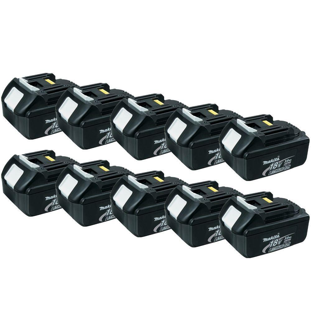 18-Volt LXT 3.0Ah Lithium-Ion Battery (10-Pack)