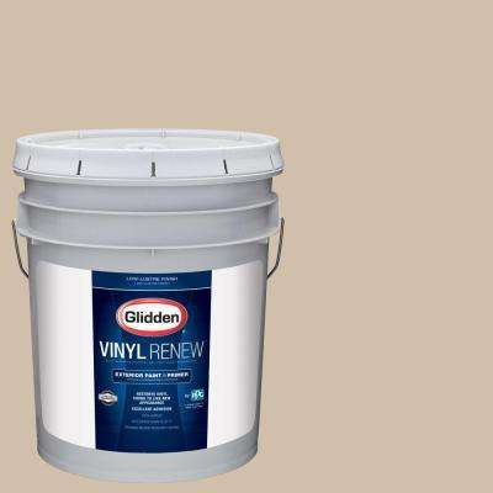 5 gal. #HDGWN07 Sahara Desert Sand Low-Lustre Exterior Paint with Primer