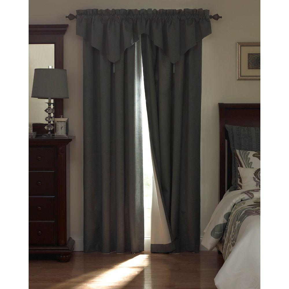 Beautyrest National Sleep Foundation Room Darkening Chocolate Polyester Curtain Panel, 63 in. Length