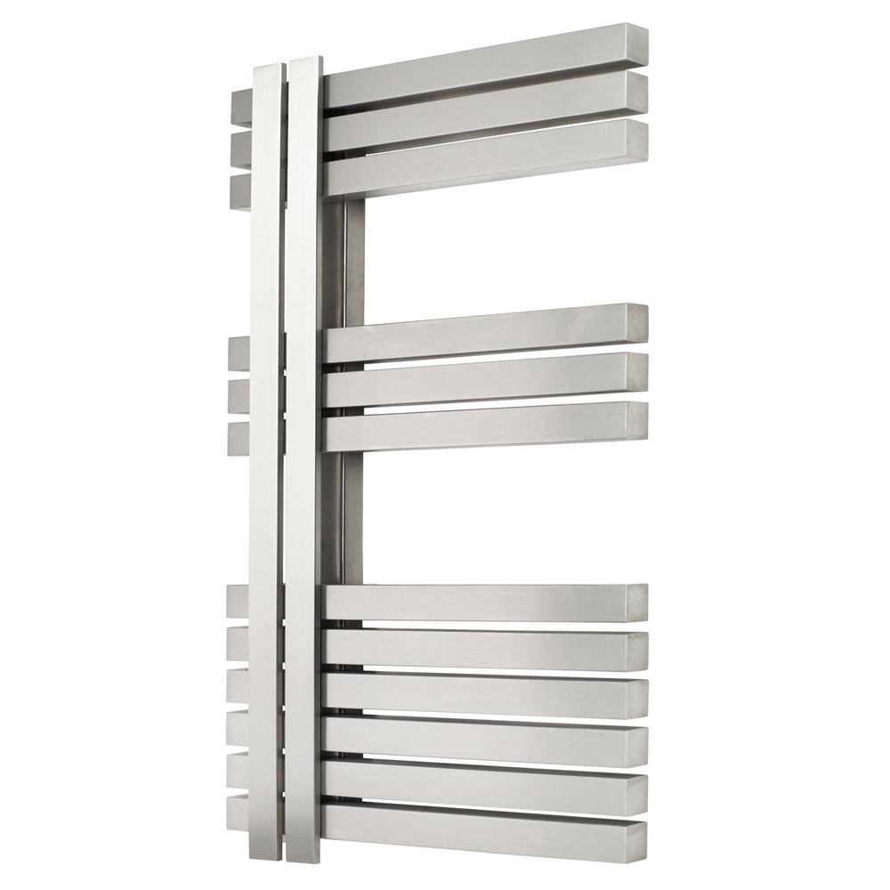 12-Bar Wall Mounted Electric Towel Warmer with Digital Timer in Stainless