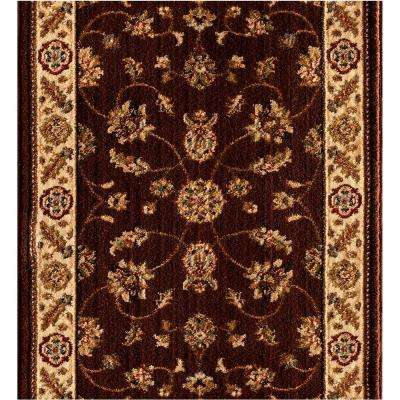 Stratford Kazmir Brown 26 in. x Your Choice Length Stair Runner