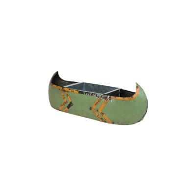 Canoe Green and Yellow Recycled Metal Cooler or Planter with Removable Tub