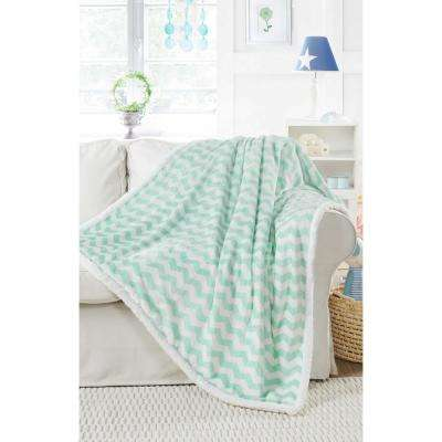 Fifi Mint Sherpa Throw