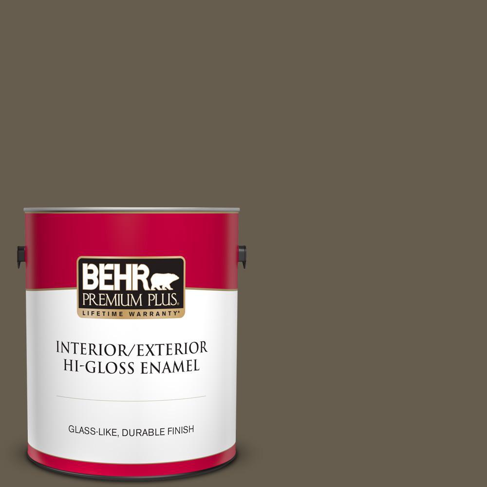 Behr Premium Plus 1 Gal N320 7 Primitive Hi Gloss Enamel