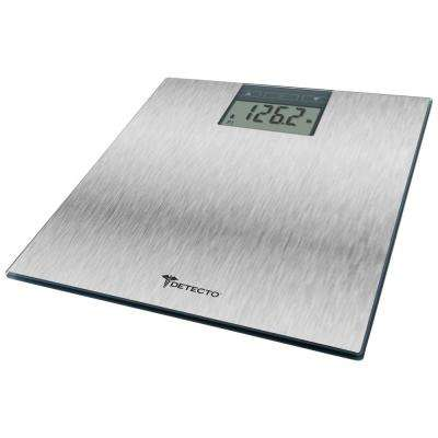 Detecto, BMI, Calorie Intake Weight Tracking Stainless Steel Digital Bathroom Scale