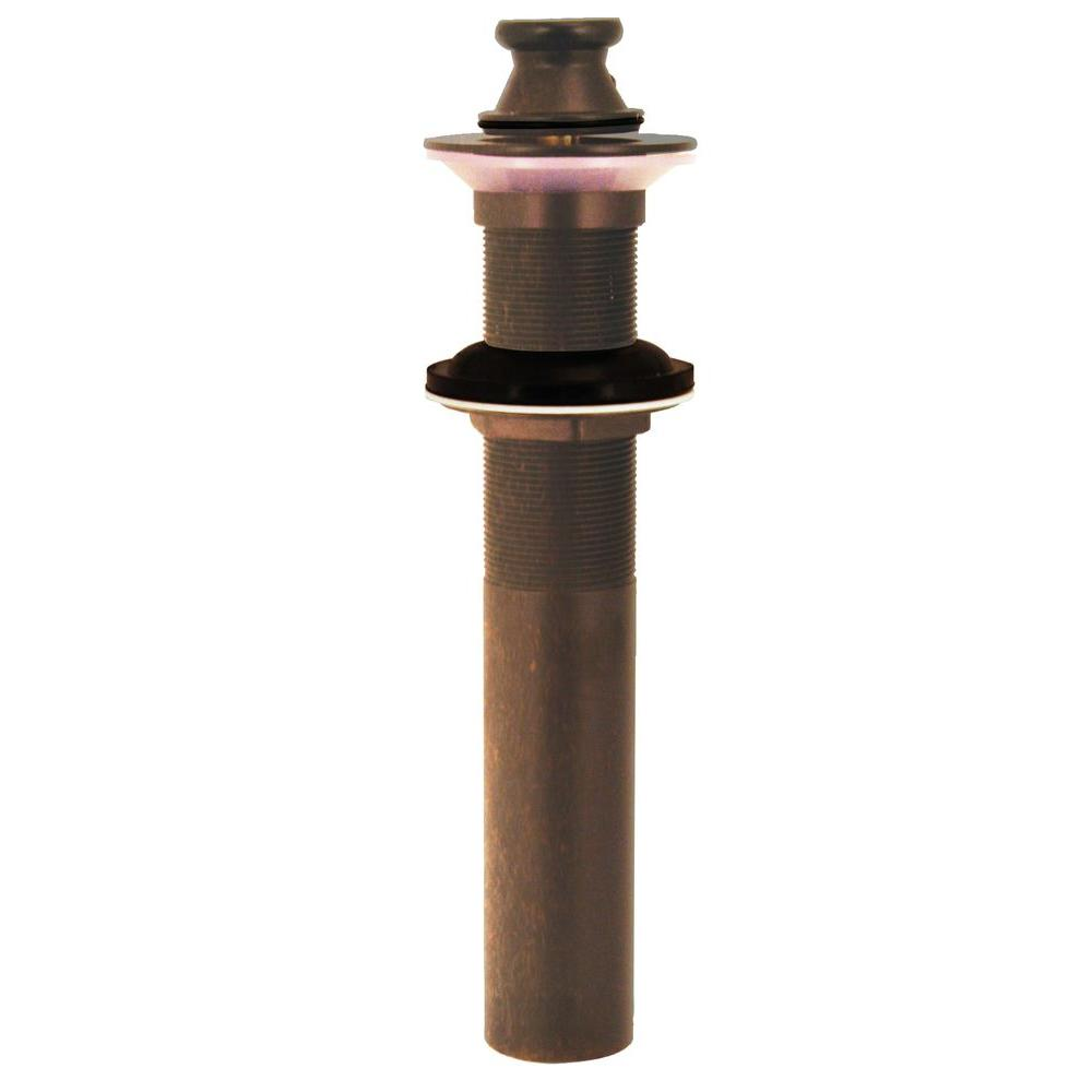 Westbrass Lift-and-Turn Lavatory Drain without Overflow Holes in Tumbled Bronze