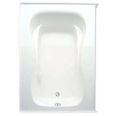 Marratta 60 in. Acrylic Left Drain Rectanglular Alcove Soaking Bathtub in White
