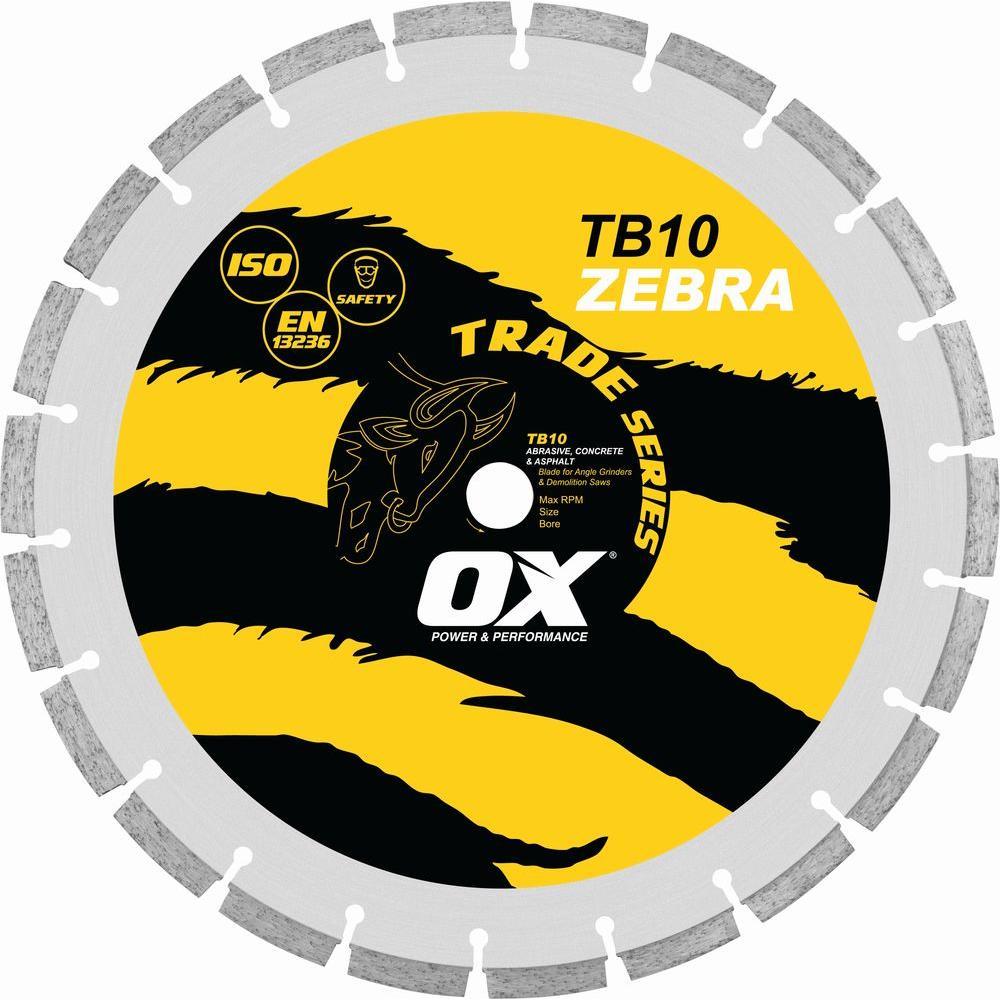 OX Trade Series Abrasive 1 - 20 mm Bore 14 in. Diamond Blade