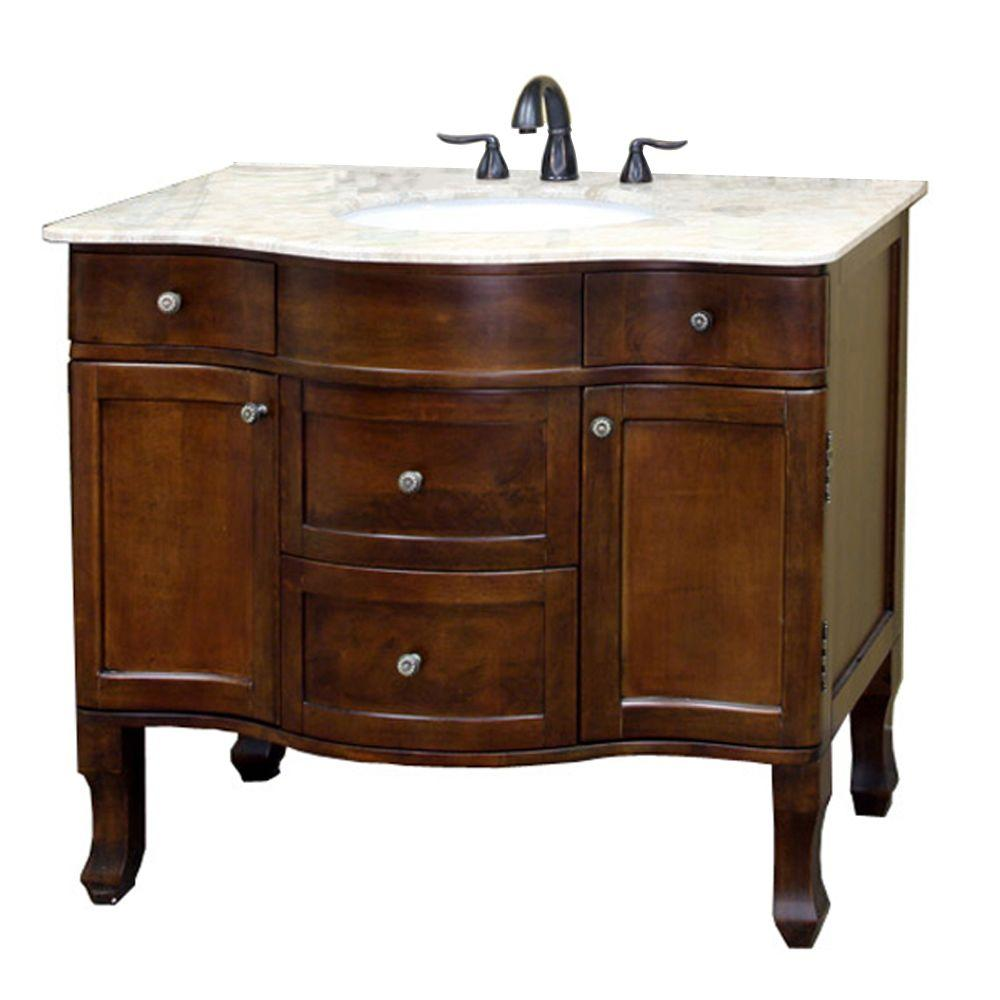 Bellaterra Home Yorkshire 39 In Single Vanity In Walnut