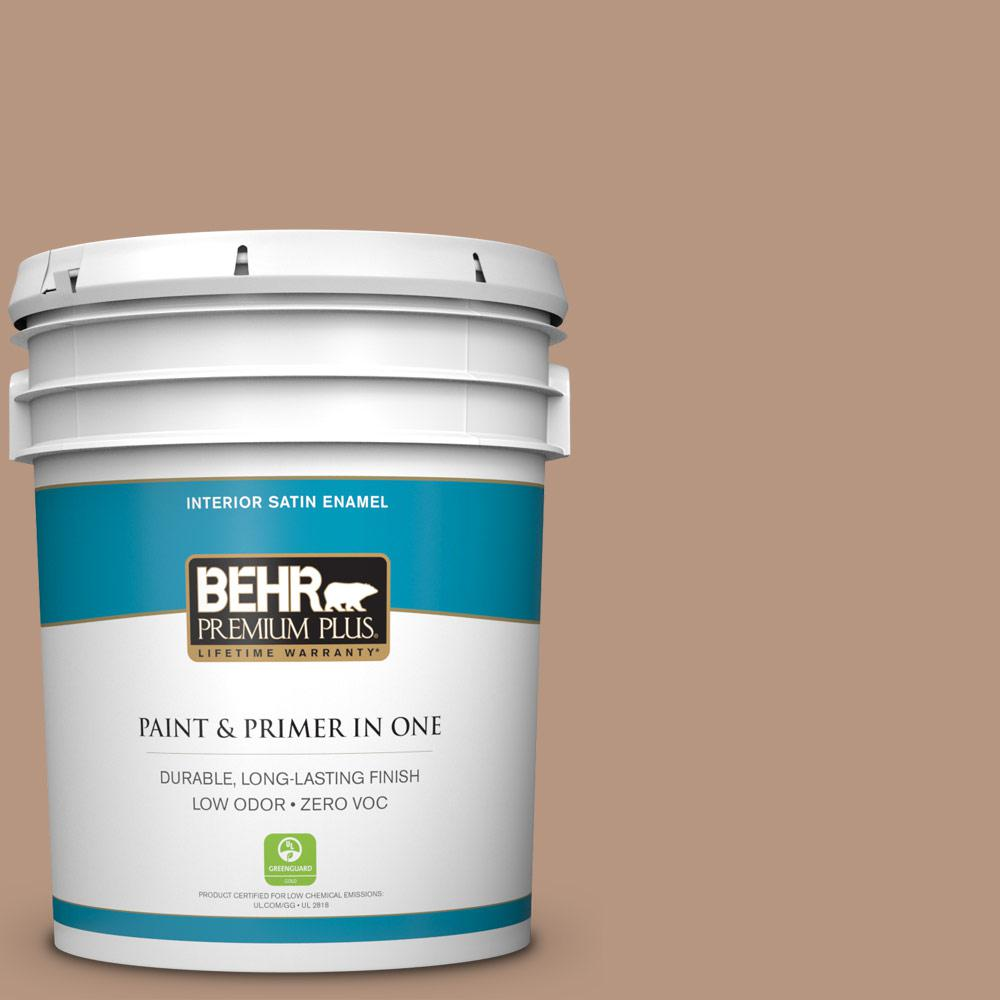 5-gal. #S220-4 Potter's Clay Satin Enamel Interior Paint