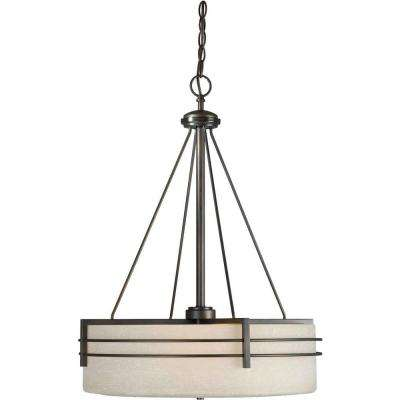 Burton 4-Light Antique Bronze Incandescent Pendant