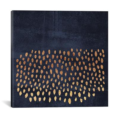 """Pattern Play (Gold & Navy)"" by Elisabeth Fredriksson Canvas Wall Art"