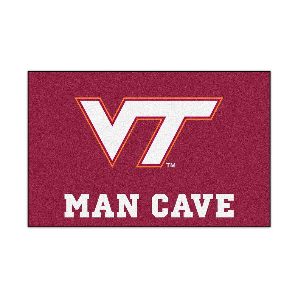 Fanmats Virginia Tech Red Man Cave 2 Ft X 3 Ft Area Rug