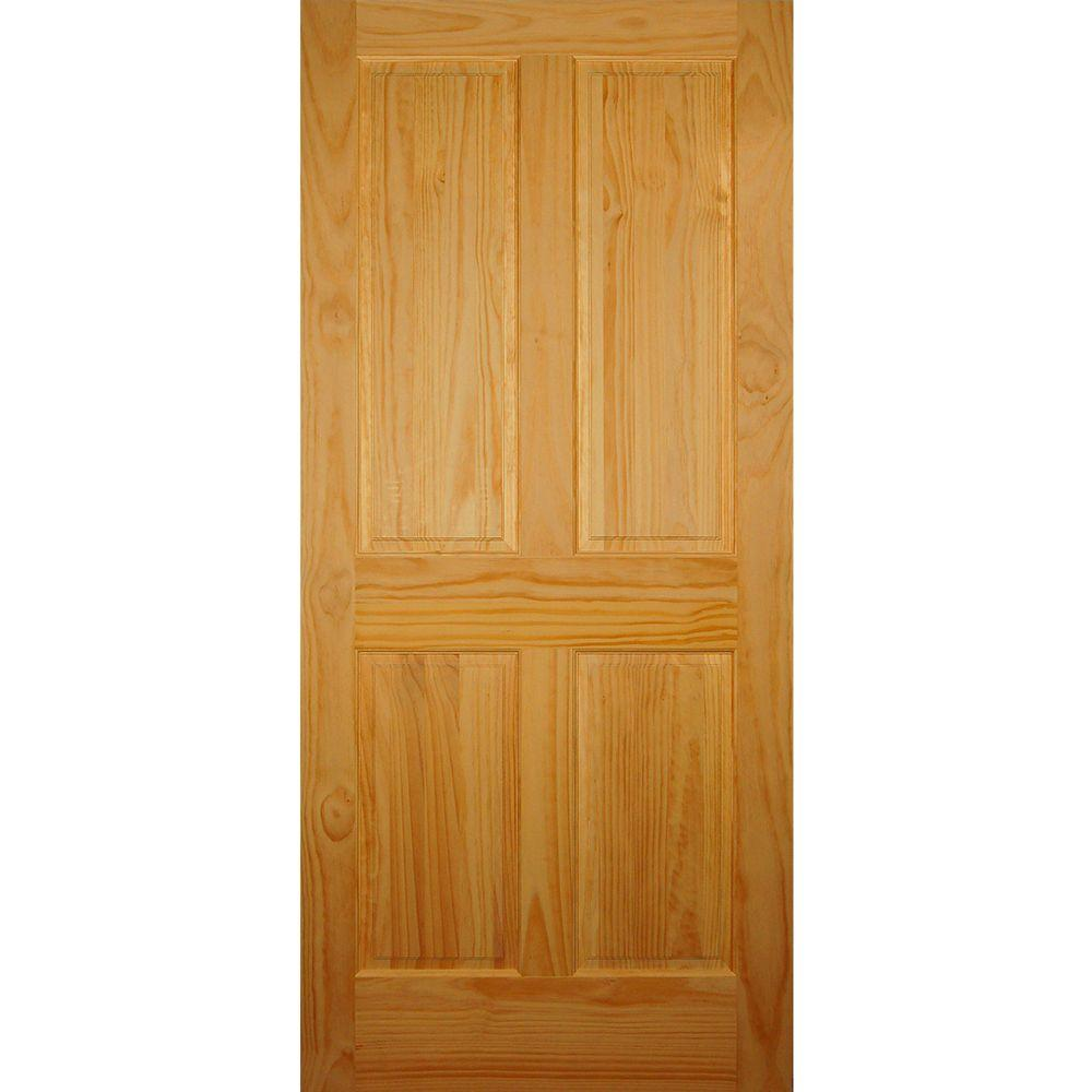 4 Panel Solid Core Pine Single Prehung