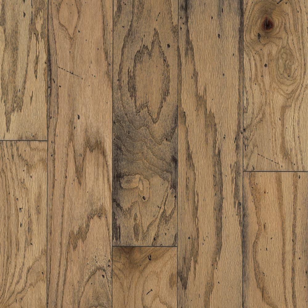 Bruce Take Home Sample   Distressed Oak Toast Engineered Hardwood Flooring    5 In. X