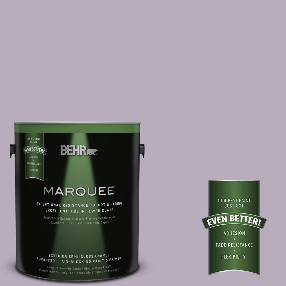 1-gal. #HDC-SP14-12 Exclusive Violet Semi-Gloss Enamel Exterior Paint