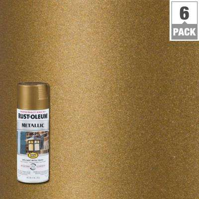 11 oz. Metallic Champagne Bronze Protective Spray Paint (6-Pack)