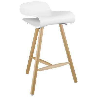 Clip 27 in. White Bar Stool