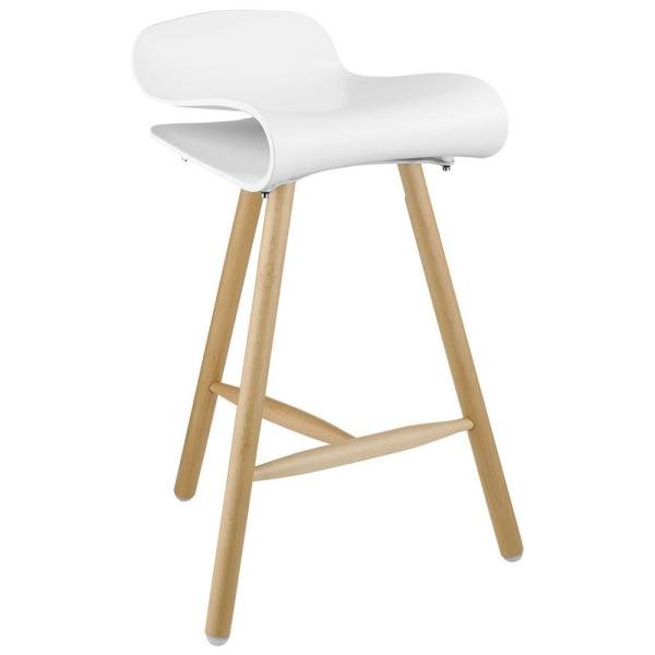 Sensational Modway Clip 27 In White Bar Stool Eei 1463 Whi The Home Depot Machost Co Dining Chair Design Ideas Machostcouk