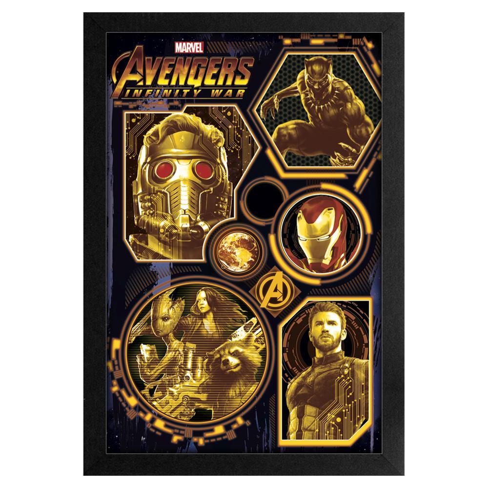 Avengers -Infinity War- Avengers Gold 11x17 Framed Print