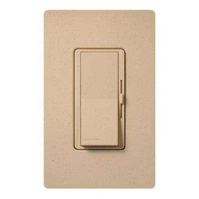 Diva Dimmer for Incandescent and Halogen, 600-Watt, Single-Pole or 3-Way, Desert Stone