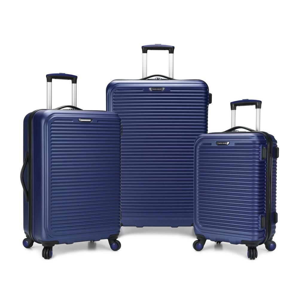 Savannah 3-Piece Navy Hard Side Spinner Luggage Set