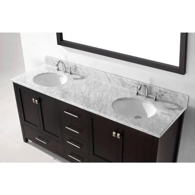 Caroline Avenue 72 in. W Bath Vanity Cabinet Only in Espresso