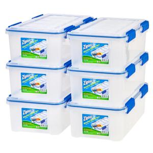 16 Qt. Ziploc Weather Shield Storage Box In Clear (Pack Of 6)
