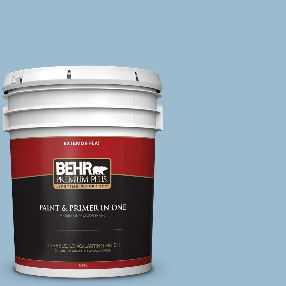 BEHR Premium Plus 5-gal. #S500-3 Partly Cloudy Flat Exterior Paint