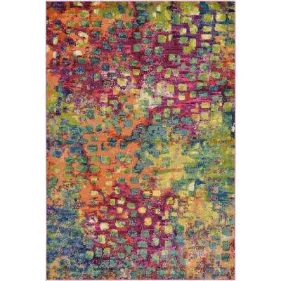 Abstract Multicolor Barcelona 6 ft. x 9 ft. Area Rug