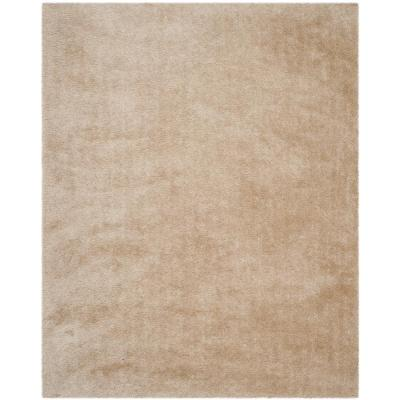 Venice Shag Champagne 8 ft. 6 in. x 12 ft. Area Rug