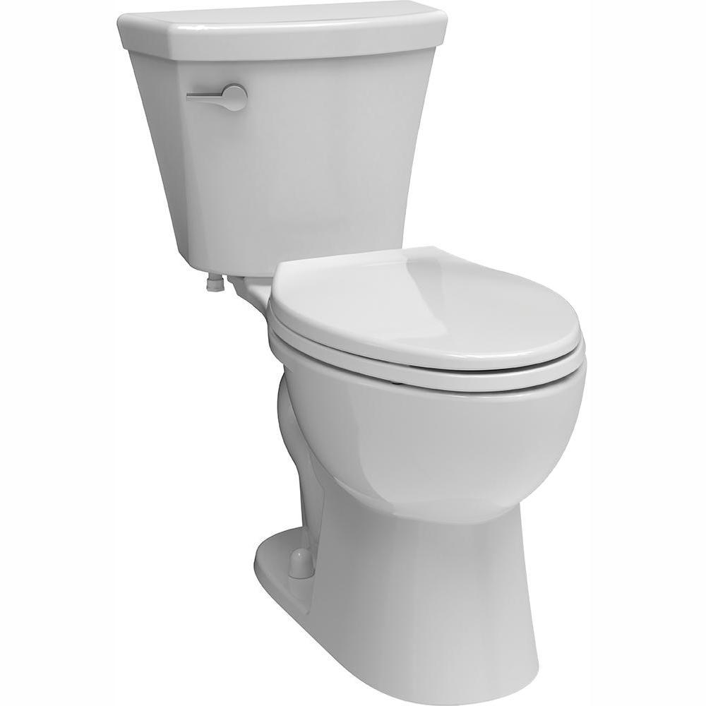 Delta Turner 2-piece 1.28 GPF Single Flush Elongated Toilet in White