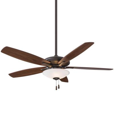 Mojo 52 in. Integrated LED Indoor Oil Rubbed Bronze Ceiling Fan with Light Kit
