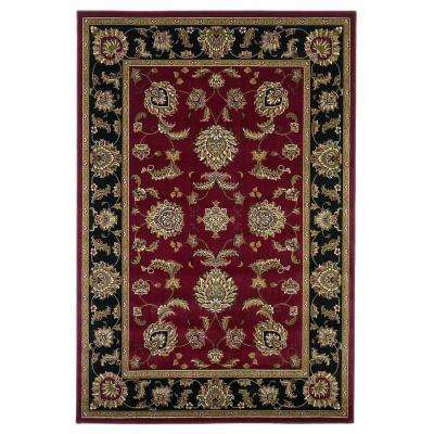Cyrus Red/Black 8 ft. Round Area Rug