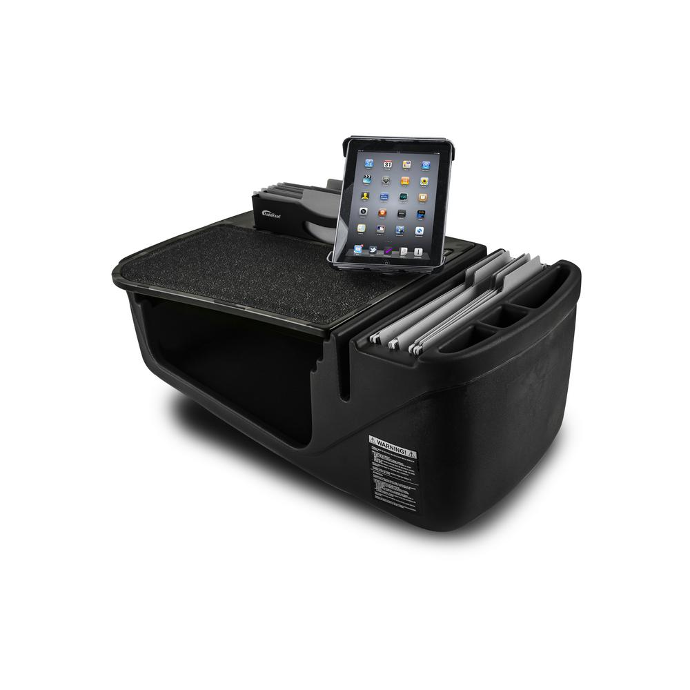 AutoExec Efficiency FileMaster Green Camouflage Car Desk with Built in Power Inverter and Tablet Mount