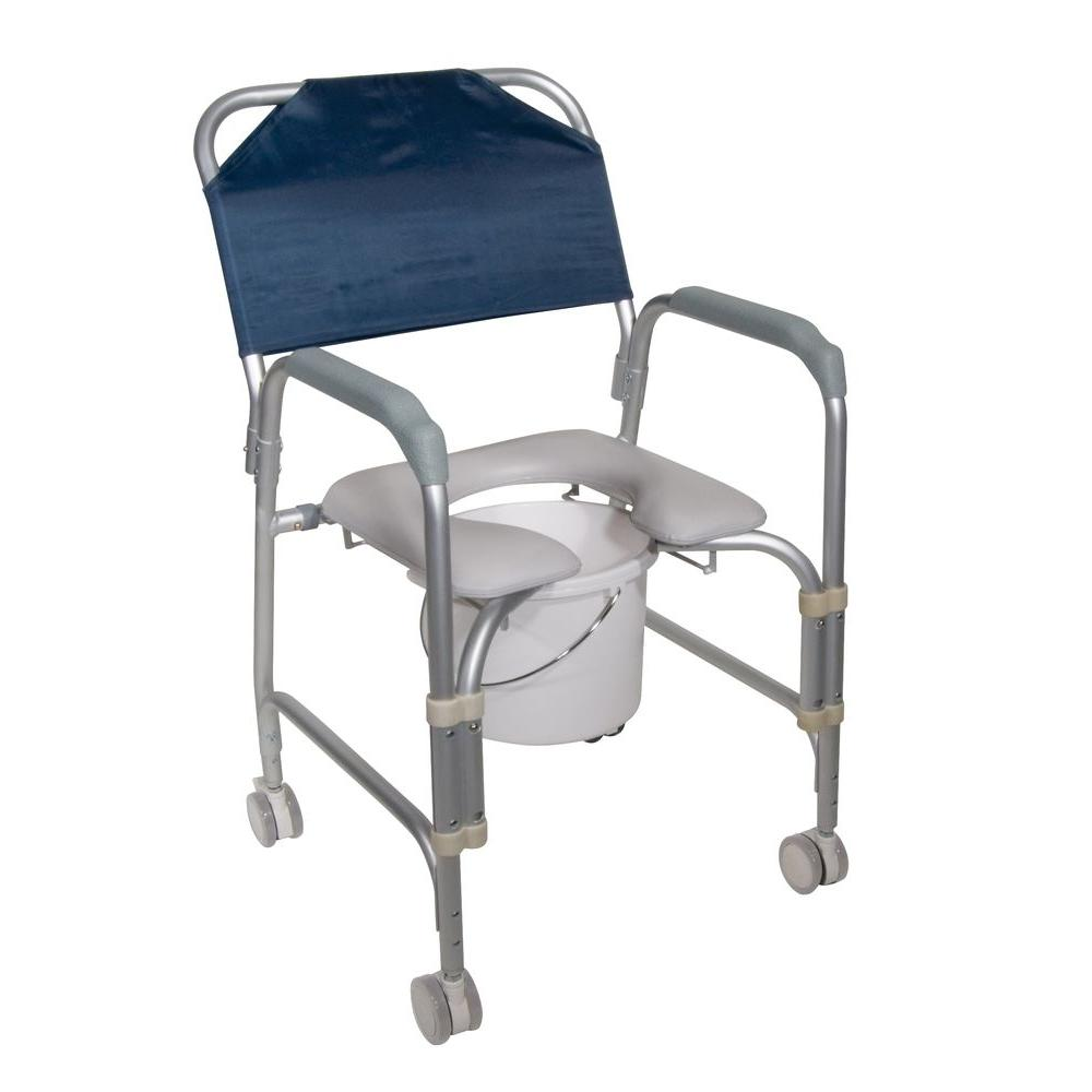 Peachy Drive Lightweight Portable Shower Chair Commode With Casters Interior Design Ideas Tzicisoteloinfo