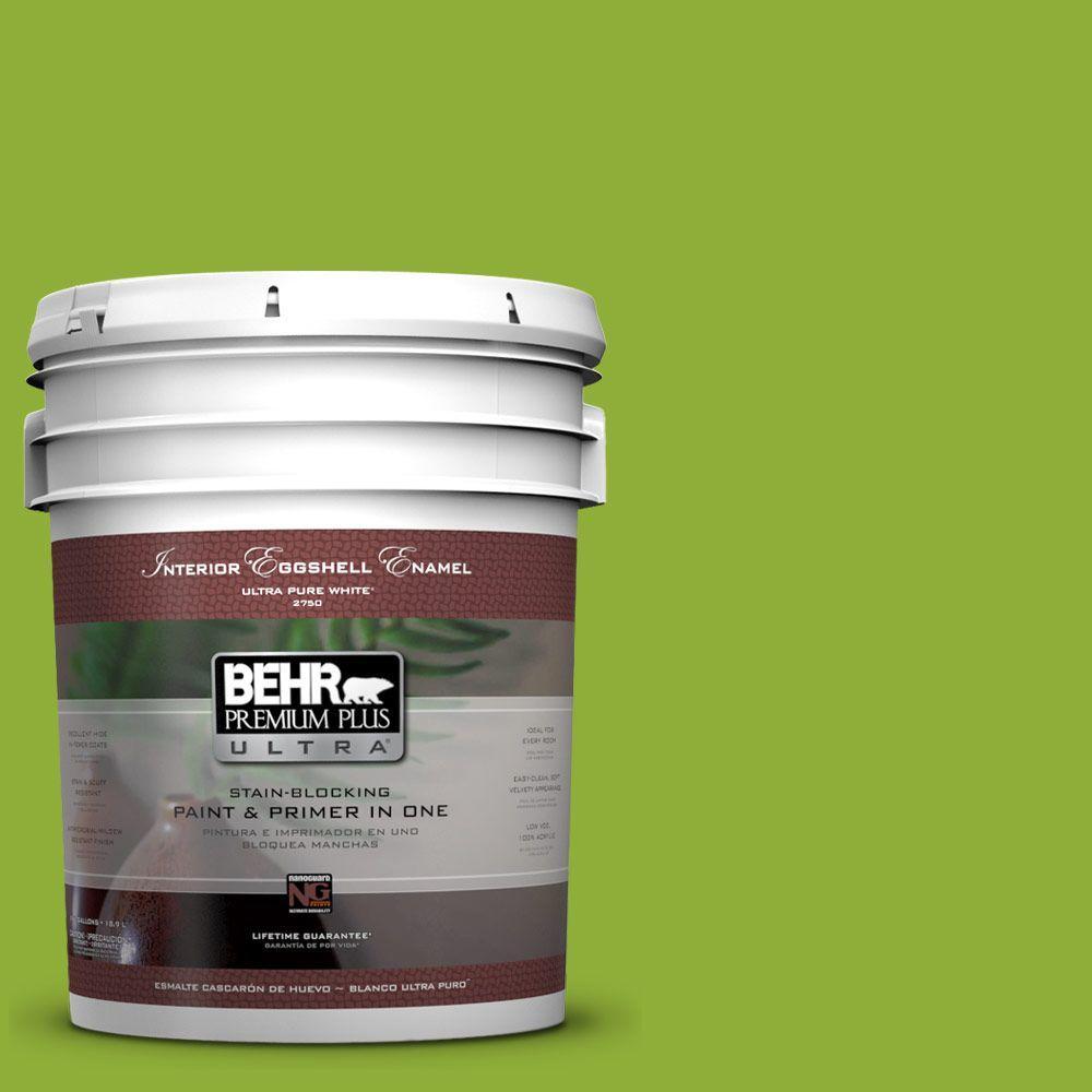 5-gal. #420B-6 New Green Eggshell Enamel Interior Paint