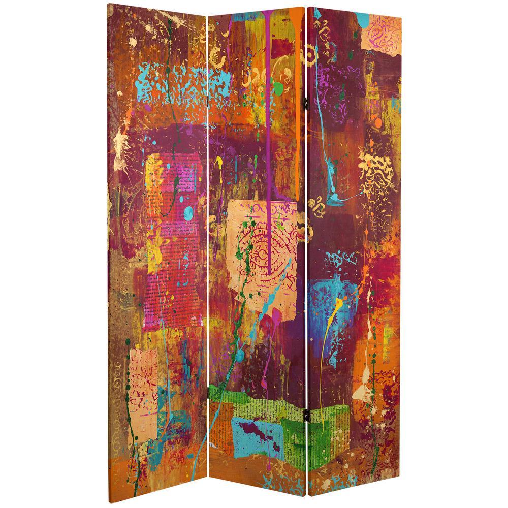 Oriental Furniture 6 ft. Printed 3-Panel Room Divider CAN-GITA13