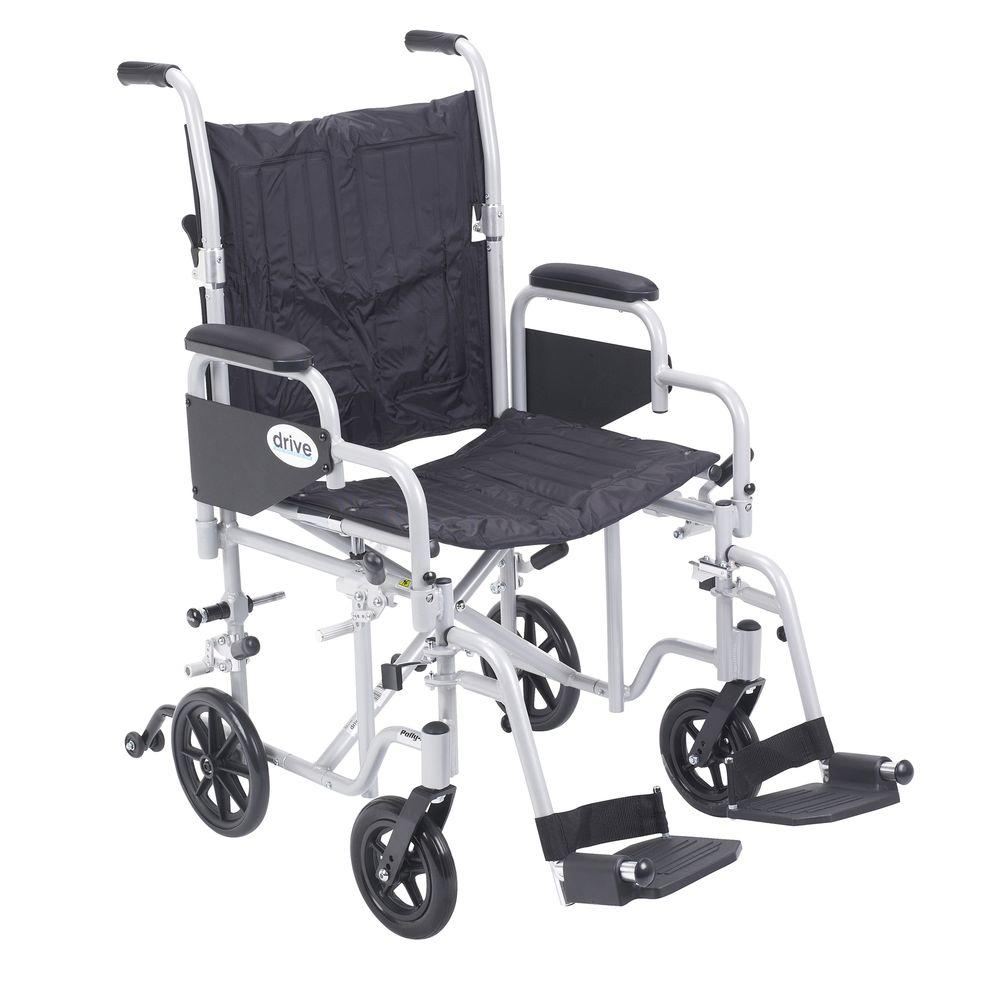 Drive Poly Fly Transport Chair With Swing Away Footrest
