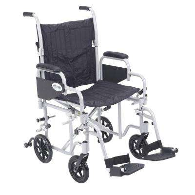 Poly Fly Transport Chair with Swing away Footrest and 20 in. Seat