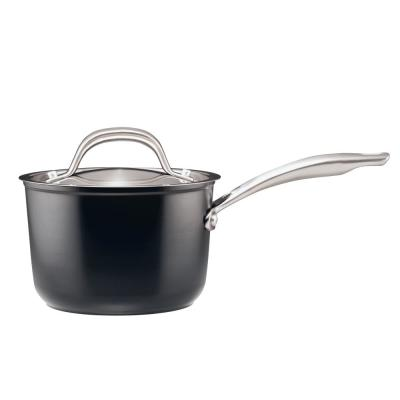 Ultimum Forged 2 Qt. Black Aluminum Covered Non-Stick Saucepan