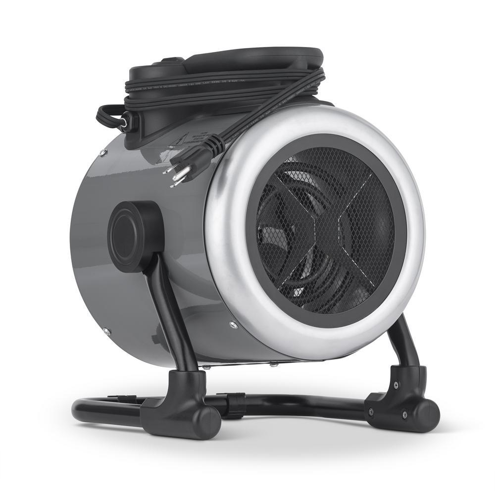 Portable 1500-Watt Electric Garage Heater, 170 sq. ft with Adjustable Tilt Head