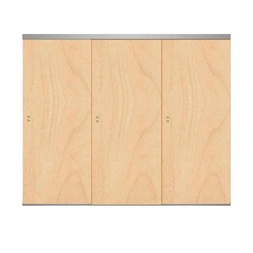 Impact Plus 96 in. x 84 in. Smooth Flush Stain Grade Maple Solid ...