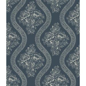 Magnolia Home by Joanna Gaines 56 sq. ft. Magnolia Home Coverlet Floral Removable Wallpaper by Magnolia Home by Joanna Gaines