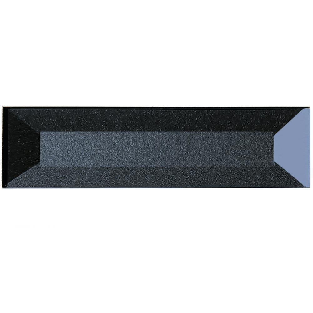 ABOLOS Secret Dimensions Blue Gray 2 in. x 8 in. Beveled Glass Wall ...