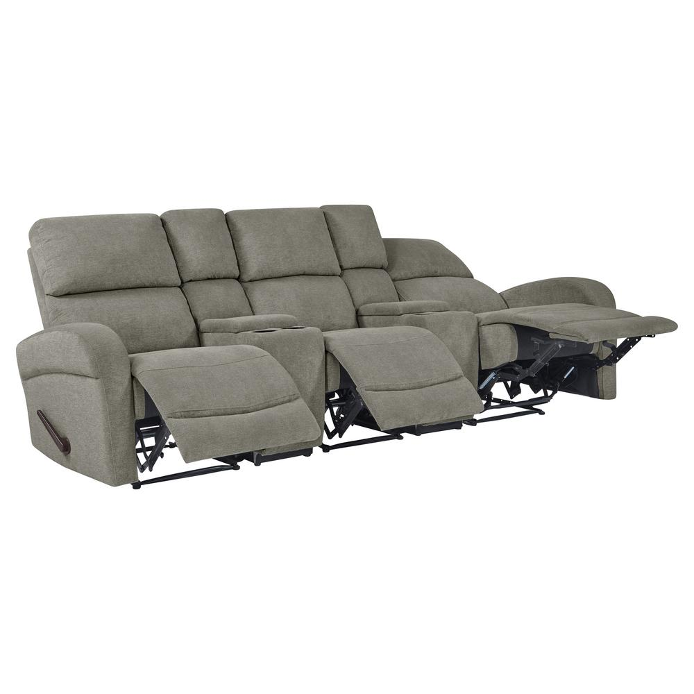Prime Prolounger Warm Gray Chenille Recliner Sofa With Storage Dailytribune Chair Design For Home Dailytribuneorg