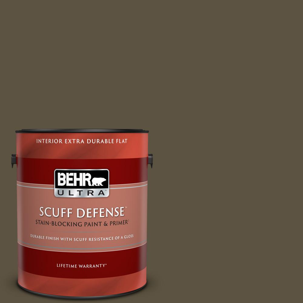 Behr Ultra Scuff Defense 1 Gal 750d 7 Hampton Extra Durable Flat Interior Paint And Primer In One 172301 The Home Depot
