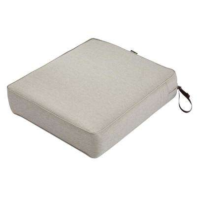 Montlake Heather Grey 21 in. W x 19 in. D x 5 in. T Outdoor Lounge Chair Cushion