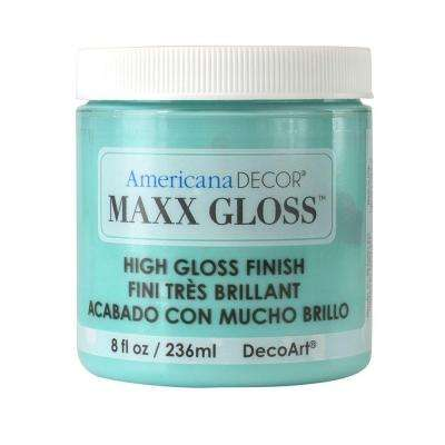 Americana Decor Maxx Gloss 8 oz. Aqua Waters Paint