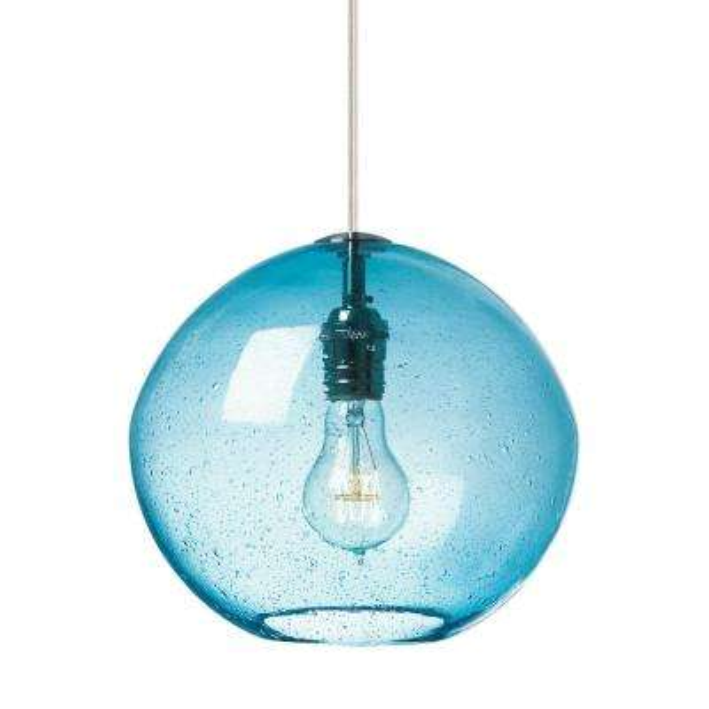 Globe blue pendant lights lighting the home depot isla 65 watt 1 light satin nickel integrated led line voltage pendant aloadofball Choice Image